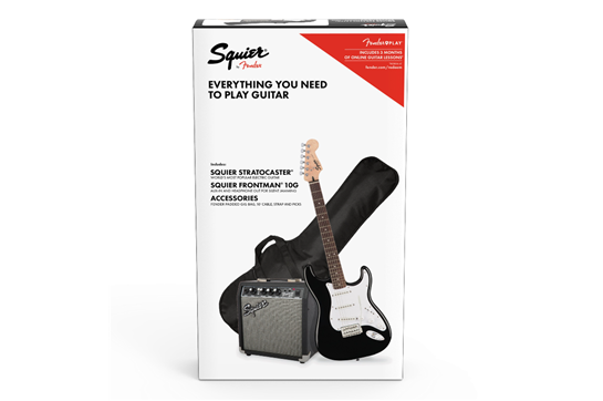 Squier Stratocaster Electric Guitar Pack (Black)