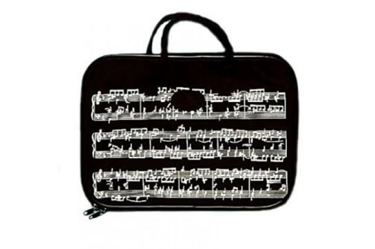 Music Staff Zippered Tote Bag