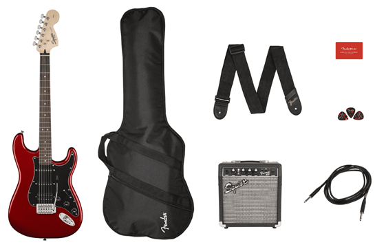 Squier Affinity Stratocaster HSS Pack (Candy Apple Red)