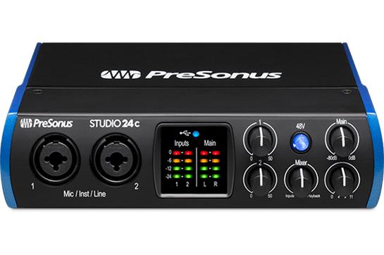 PreSonus Studio 24c USB 2x2 Recording Interface