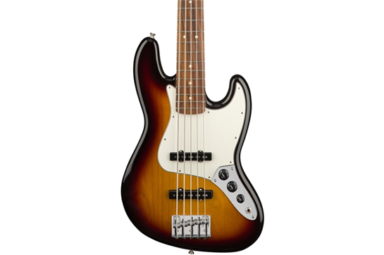Fender Player Jazz V PF Bass Guitar (3-Color Sunburst)
