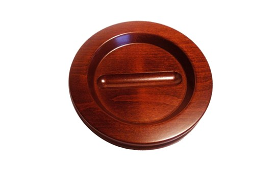 Jansen Medium Wood Piano Caster Cup w/Felt (Satin Walnut)