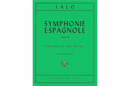 Symphonie Espagnole, Op. 21 for Violin