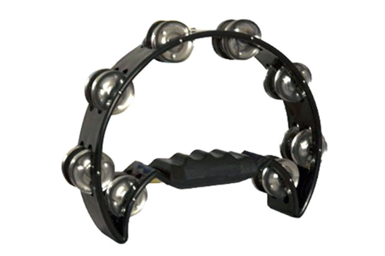 Dadi Hand Held Tambourine (Black)