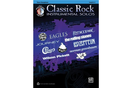 Classic Rock Instrumental Solos for Tenor Saxophone