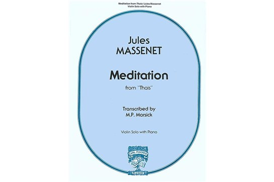 Meditation From 'Thais' for Violin