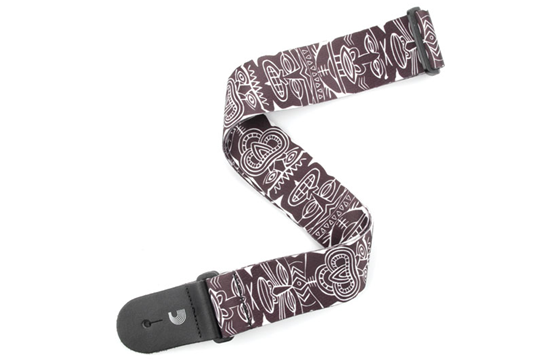 Planet Waves Tiki Totem Pole Guitar Strap (Black/White)