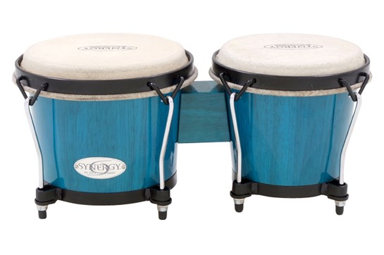 Toca Synergy Wood Bongos - Bahama Blue