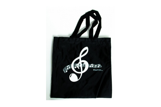 Music Tote Bag (Clef Black)