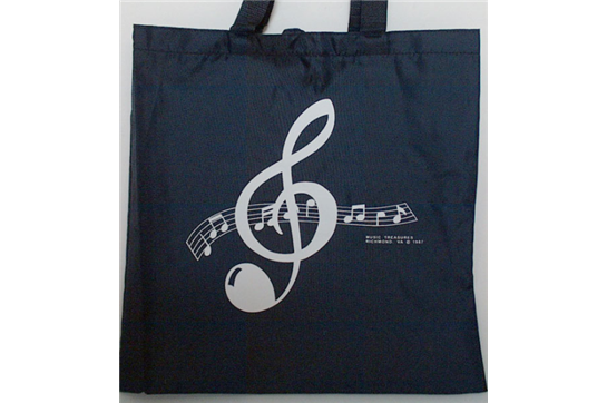 Music Tote Bag (Clef Navy)