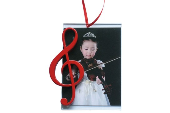 Picture Frame Ornament With Red G Clef