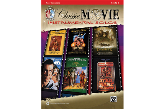 Classic Movie Instrumental Solos Book and CD (Tenor Sax)