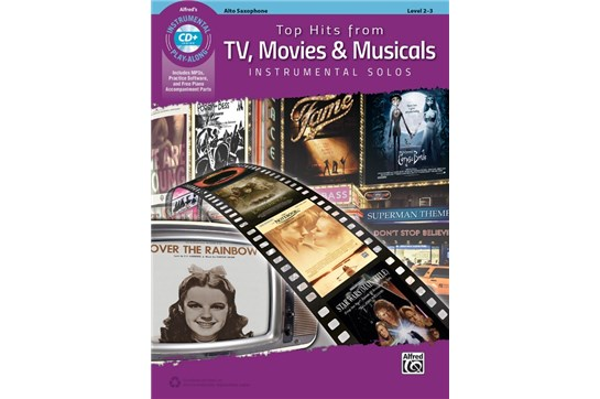 Top Hits from TV, Movies & Musicals Instrumental Solos Book and CD (Alto Sax)