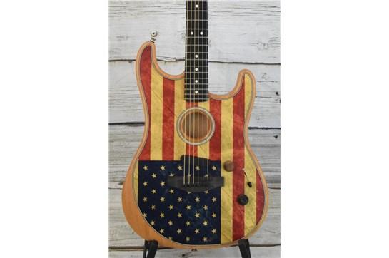 Fender American Acoustasonic Stratocaster - Flag Print
