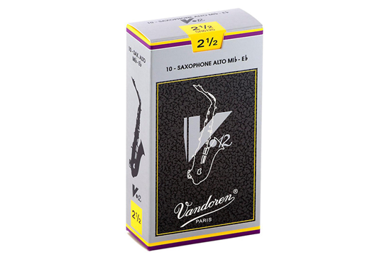 Vandoren V12 Alto Saxophone Reeds Strength 2.5 (Box of 10)