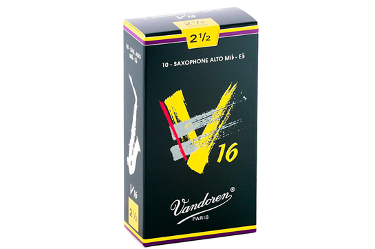 Vandoren V16 Alto Saxophone Reeds Strength 2.5 (Box of 10)