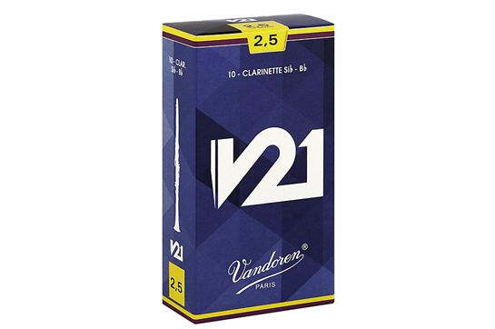 Vandoren V21 Bb Clarinet Reeds Strength 2.5 (Box of 10)