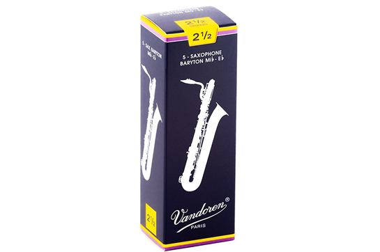 Vandoren Baritone Saxophone Reeds  Strength 2.5 (Box of 5)