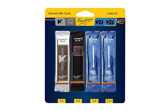 Vandoren Bb Clarinet Reeds Mix Pack Strength 3.5