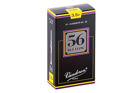 Vandoren 56 Rue Lepic Bb Clarinet Reeds Strength 3.5 Plus (Box of 10)
