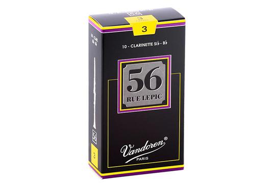 Vandoren 56 Rue Lepic Bb Clarinet Reeds Strength 3 (Box of 10)