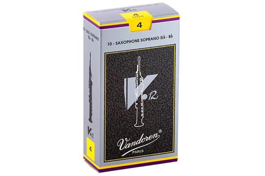 Vandoren V12 Bb Soprano Sax Reeds  Strength 3 (Box of 10)