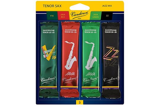 Vandoren Tenor Saxophone Jazz Reed Mix Pack Strength 3