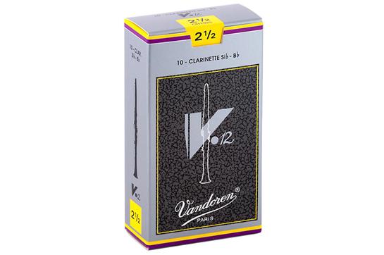 Vandoren V12 Bb Clarinet Reeds  Strength 2.5 (Box of 10)