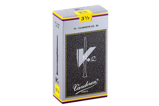 Vandoren V12 Bb Clarinet Reeds  Strength 3.5 (Box of 10)