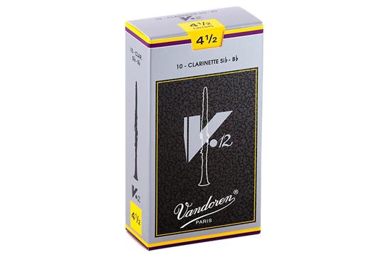 Vandoren V12 Bb Clarinet Reeds  Strength 4.5 (Box of 10)