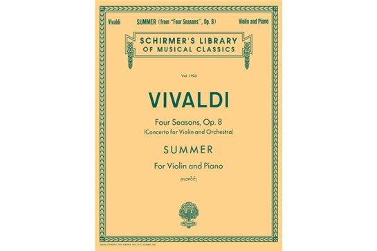 Summer from Four Seasons Opus 8 (Violin)