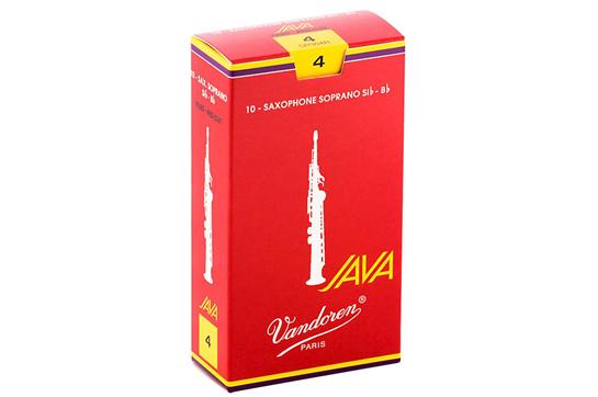 Vandoren Java Red Soprano Saxophone Reeds Strength 4 (Box of 10)