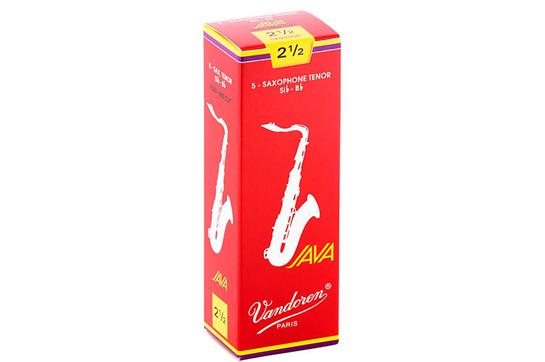 Vandoren Java Red Tenor Saxophone Reeds Strength 2.5 (Box of 5)