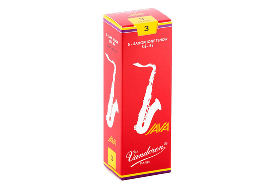 Vandoren Java Red Tenor Saxophone Reeds Strength 3 (Box of 5)