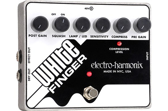 Electro-Harmonix White Finger Compressor Guitar Effects Pedal