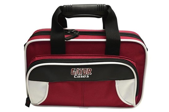 Gator Spirit Lightweight Clarinet Case (White and Maroon)