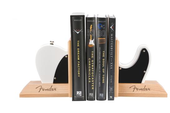 Fender Tele Body Bookends (White)