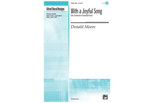 With a Joyful Song - SSA