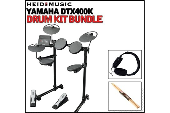 Yamaha DTX400K Electronic Drum Kit Bundle