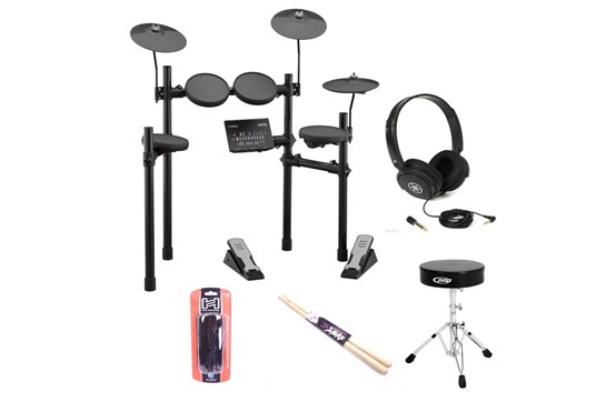 Yamaha DTX402 Electronic Drum Set Bundle