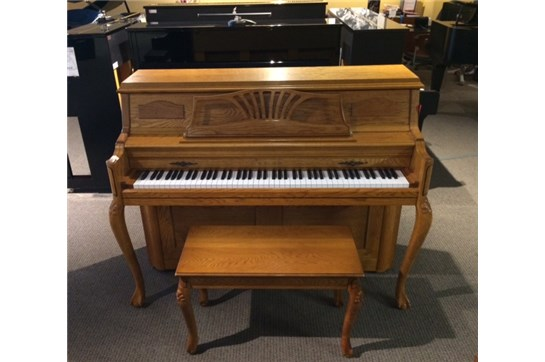 Used Young Chang Oak Console Upright Piano