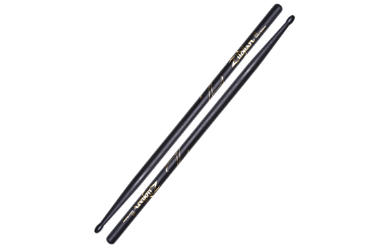 Zildjian 5A Hickory Nylon Tip Sticks (Black)