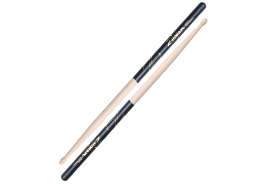 Zildjian 5B Hickory Wood Tip Sticks (Black DIP)