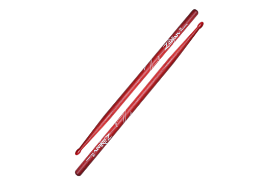 Zildjian 5B Hickory Nylon Tip Sticks (Red)