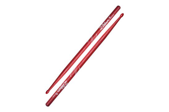 Zildjian 5B Hickory Nylon Tip Sticks (Red)