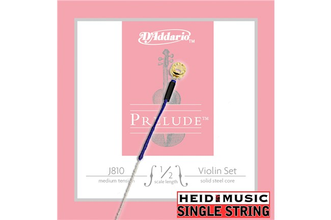 Single String - D'addario Prelude J810 1/2 Violin (Choose E, A, D, or G)