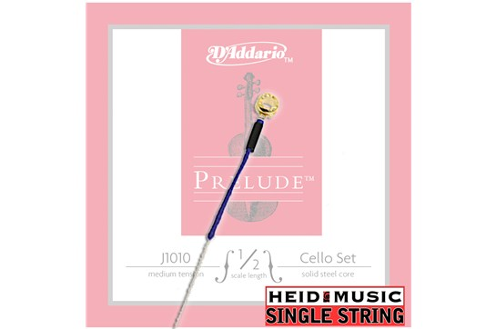 Single String - D'addario Prelude J1010 1/2 Cello (Choose A, D, G, or C)