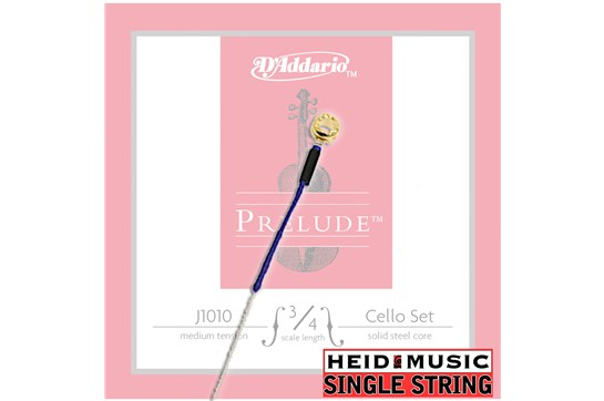 Single String - D'addario Prelude J1010 3/4 Cello (Choose A, D, G, or C)