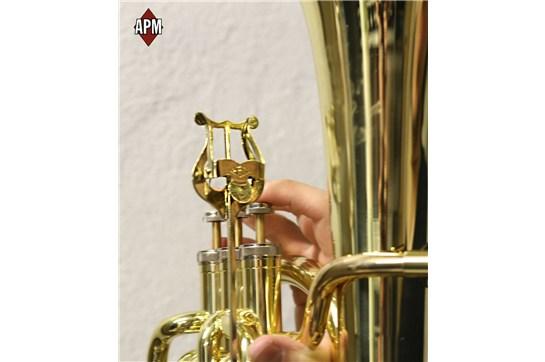 APM 500LG Tuba/ Sousaphone/ Baritone Lyre (Gold Brass)