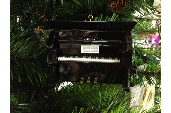 Broadway Gifts Black Upright Piano Ornament